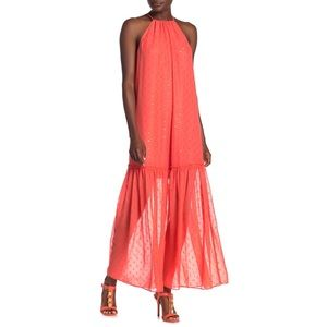 Trina Turk Cloverdale Maxi In Orange Crush